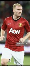 Match Worn Manchester United Home Shirt 2012/13 Pre Season Scholes Known Game