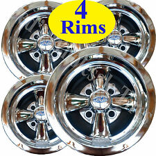 FOUR 10X7 4/4 Cragar Golf Cart Rims Wheels Chrome Aluminum series 410C S/S