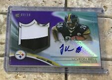 2013 Topps Platinum Le'Veon Bell Rookie Patch Auto #ed /10 Pittsburgh Steelers