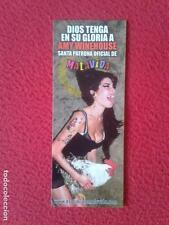MARCAPÁGINAS BOOKMARK BOOK MARK CANTANTE AMY WINEHOUSE SANTA PATRONA OFICIAL DE