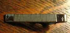 Swank Vintage Spades Tie Clip - Silver Tone Metal Playing Card Mid Century Clasp