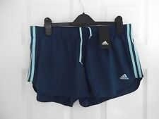 """Ladies Adidas Running / Exercise Shorts Colour: Blue Size: L 3"""""""