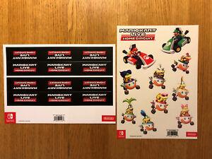Mario Kart Live Home Circuit Stickers and Perimeter New NO GAME