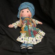 """Holly Hobbie Vintage Talking Cloth Rag Doll Pull String Knickerbocker 16"""""""
