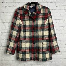 14 Pendleton Women's Plaid Wool Coat Jacket