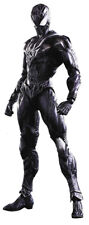 Marvel Universe Variant Action Figure Play Arts Kai - Black Costume Spider-Man