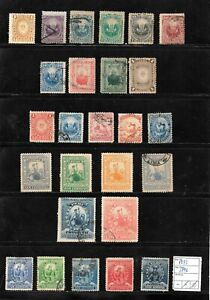 (57597) PERU CLASSIC STAMPS 1873/1896 NICE SELECTION USED UNUSED
