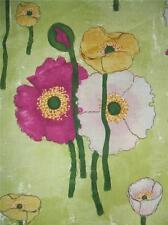 Vignette Gathered Poppies Lime Poppy Laura Gunn Michael Miller Fabric Yard