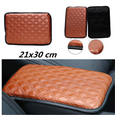 Brown Car Armrest Arm Rest Storage Console Box Top Mat Liner Pad Cover Cushion