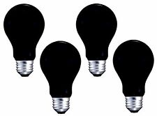 4 x BLACK LIGHT BULBS 120V 40W Glow Halloween Party Special Occasion E26 Bulb