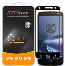 Motorola Moto Z Force Droid Full Cover Tempered Glass Screen Protector (BLACK)