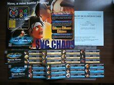 SNK VS CAPCOM CHAOS NEO GEO NEOGEO MVS ARCADE GAME MANUAL + STICKERS ENGLISH