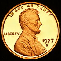 1977 S  Lincoln Memorial Mint Proof Penny ~ From Original U.S. Proof Set