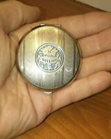 Vintage Pocket Purse Ashtray Personal Travel Ash Compartment Silver Tone