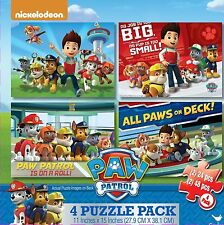 Cardinal Industries Paw Patrol 4-Pack of Puzzles, Free Shipping, New