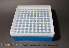 rack holder scatola BLUE portaprovette x100 1.5-1.8ml eppendorf porta provette