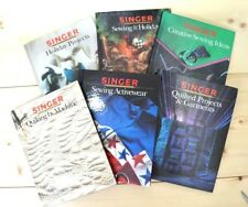 Singer Sewing Books Lot of 6 Craft Reference 1986 1997 125 Page Education Vtg