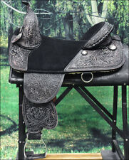 "TW101BKRO 13"" HILASON TREELESS WESTERN TRAIL BARREL RACING LEATHER HORSE SADDLE"