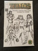 TELLOS #1 DYNAMIC FORCES EXCLUSIVE CONVENTION SKETCH COVER WITH COA Consketch LE