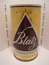 BLATZ STRAIGHT STEEL PULL TAB BEER CAN  NO BOOK #  NEWPORT, KY  HEEKIN CAN CO.