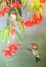 New listing *Spring Fushia & Hummingbirds* Large Flag
