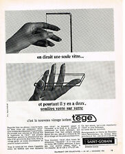PUBLICITE ADVERTISING   1965    SAINT-GOBAIN  vitrage isolant TEGE