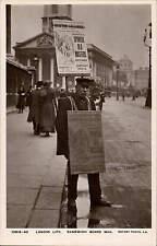 London Life. Sandwich Board Man by Rotary # 10513-40.