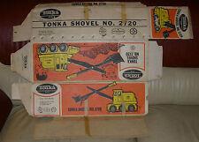 TONKA SHOVEL # 2720  SCARCE BOX ONLY  USA  PRESSED STEEL  C. 1960's