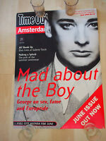 """PROMO 16x23"""" POSTER Rare 1994 BOY GEORGE TIME OUT AMSTERDAM Culture Club VINTAGE"""