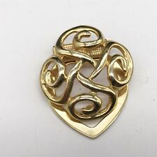 4 Celtic knot charms antique silver tone R71