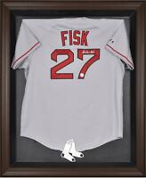 Red Sox Brown Framed Logo Jersey Display Case - Fanatics Authentic