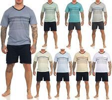 Herren Pyjama Short & T-Shirt Schlafanzug Nachthemd, Gr. M L XL 2XL