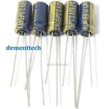 5pcs - 3.3uF 50v Panasonic FC low impedance radial 105C Capacitors low ESR caps