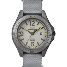 Timex T49931 Expedition Camper Mens Watch Gray Dial Gray Nylon Strap AnalogWatch