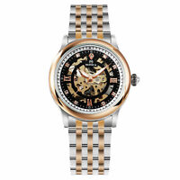 Women's Automatic Mechanical Watch Diamond Stainless Steel Band Black Dial