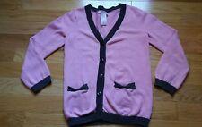 Cardigan JANIE JACK girls' Autumn Classics pink brown  size 5T sweater