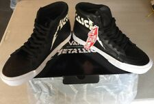 Vans Metallica Slayer Iron Maiden SK8-HI Re-Issue Black Leather Shoes US 8.0
