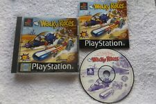 WACKY RACES PS1 PAL BLACK LABEL V.G.C. FAST POST ( racing game & complete )