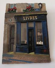 """3D Resin Wall Plaque French Store Fronts By Chiu Tak Hak #76 """"LIVRES"""""""