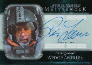 Star Wars Masterwork 2020, Denis Lawson (Wedge Antilles) Autograph Card A-DL