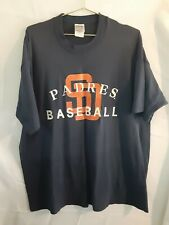 San Diego Padres Baseball Fruit Of The Loom Mens T-Shirt Crew Navy Orange XXL