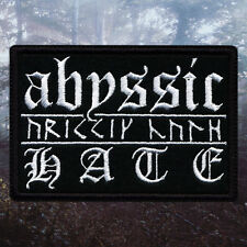Abyssic Hate | Embroidered Patch | Australia | Australian Black Metal Band