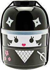 Japanese Bento Box Food Lunch Container 2-Tier Kokeshi Ninja Girl Made in Japan