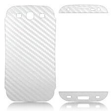 Samsung Galaxy S3 White 3M Carbon Fiber Vinyl Skin