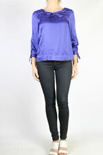 Silk Blend Dry-clean Only Solid Regular Tops & Blouses for Women