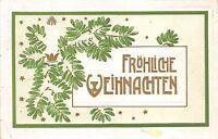 BG3996 weihnachten christmas fir branch embossed  germany  greetings