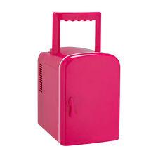 4 Litre Mini Table Top/Portable Travel Fridge - Pink