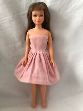 Vintage Barbie SKIPPER Doll Clone PINK VELVET DRESS Pepper Betsy McCall