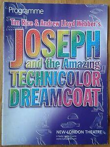 Joseph & the Amazing Technicolor Dreamcoat programme N L Theatre 2005 Darren Day