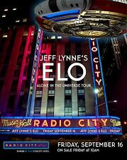 """JEFF LYNNE'S ELECTRIC LIGHT ORCHESTRA """"UNIVERSE TOUR"""" 2016 NYC CONCERT POSTER v2"""